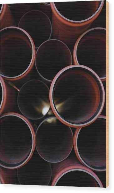 A Lot Of Pipes, Sweden Wood Print