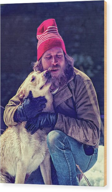 A Man And His Dog 3 Wood Print