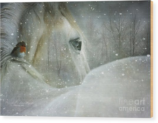 A Midwinters Dream Wood Print
