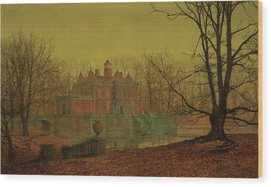 A Moated Yorkshire Home, 1879 Wood Print