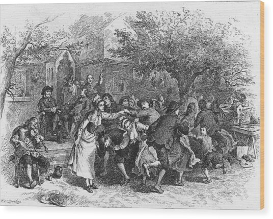 A Scene From Evangeline Wood Print by Kean Collection