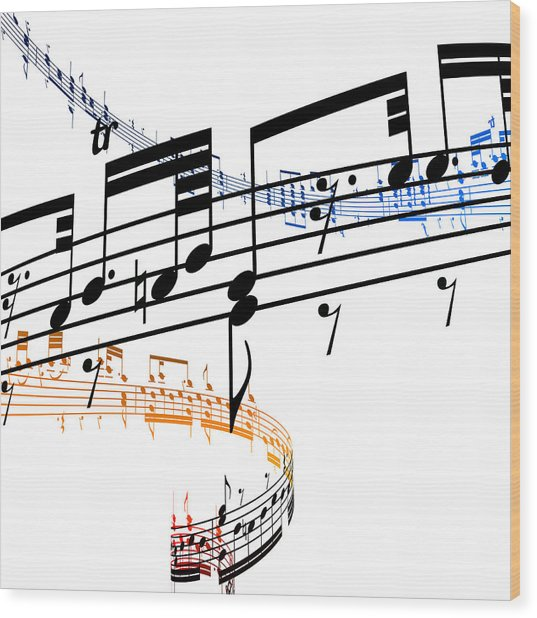 A Stave Of Music Wood Print by Ian Mckinnell