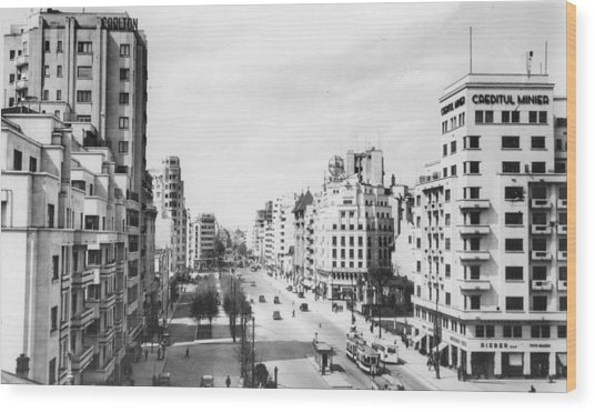 A View Of Bucharest Wood Print by Hulton Archive