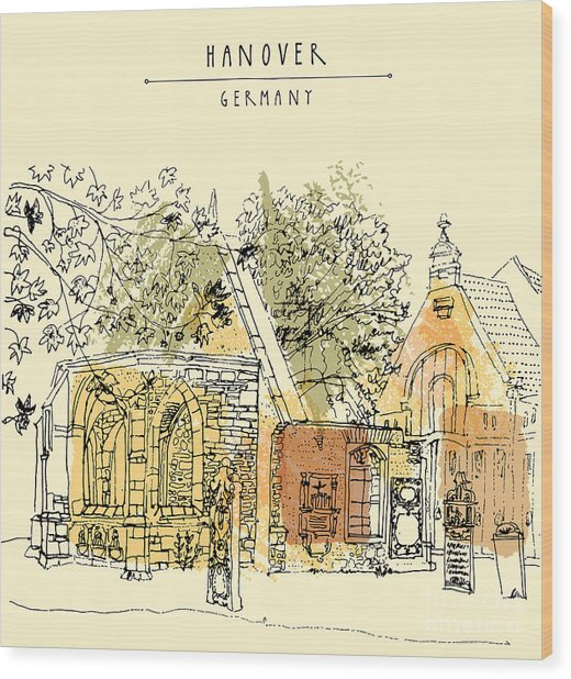 Abandoned Church Ruins In Hanover Wood Print