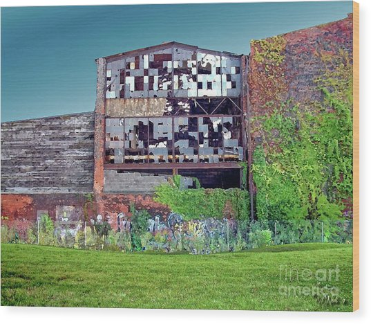An Abandoned Factory In Detroit Wood Print