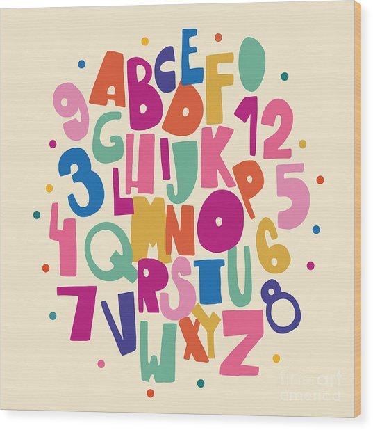 Abc For Kids Wood Print