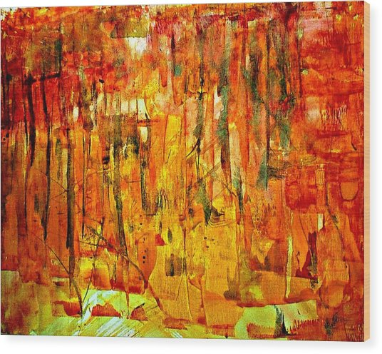 Ablaze Wood Print