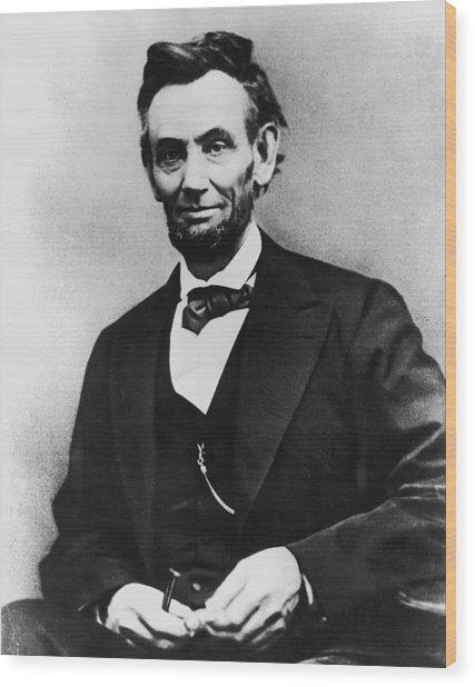 Abraham Lincoln Portrait Wood Print by Alexander Gardner