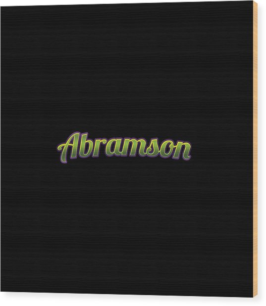 Abramson #abramson Wood Print