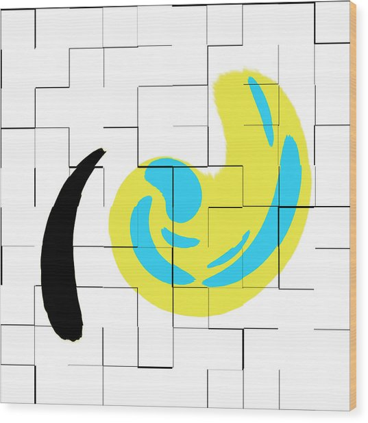 Abs Art 11november2018 Wood Print