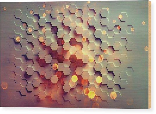 Abstract 2 Wood Print