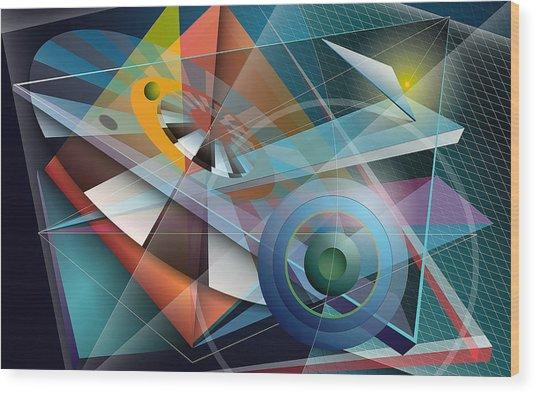 Abstract 4 Wood Print