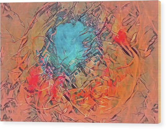 Abstract 49 Wood Print
