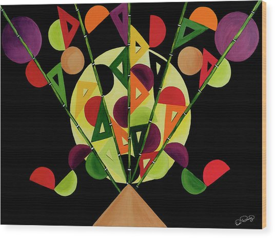 Abstract Bouquet  Wood Print