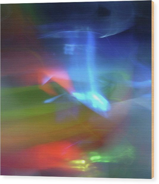 Abstract Color Wood Print by I Love Photo And Apple.