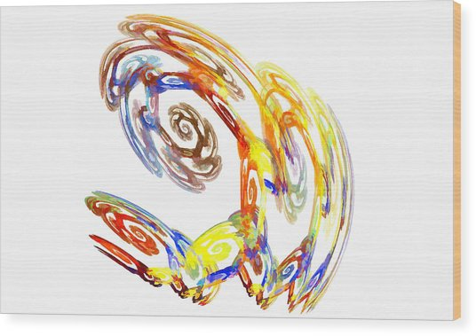 Abstract Crab Yellow Wood Print
