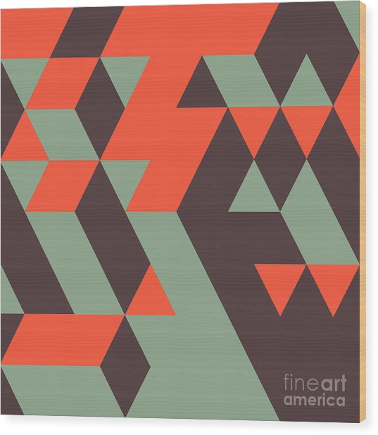 Abstract Geometrical 3d Background. Can Wood Print