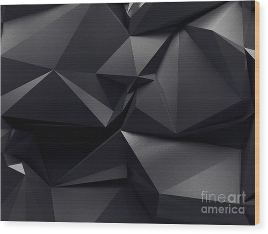Abstract Graphite Crystal Background Wood Print