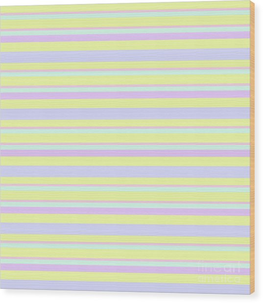 Abstract Horizontal Fresh Lines Background - Dde596 Wood Print