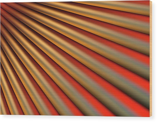 Abstract Line Pattern Wood Print by Ralf Hiemisch