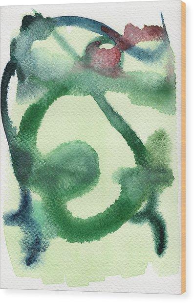 Abstract Man Wood Print