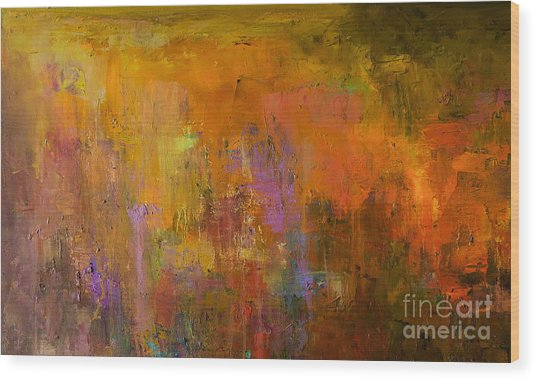 Abstract Oil Painting Background. Oil Wood Print