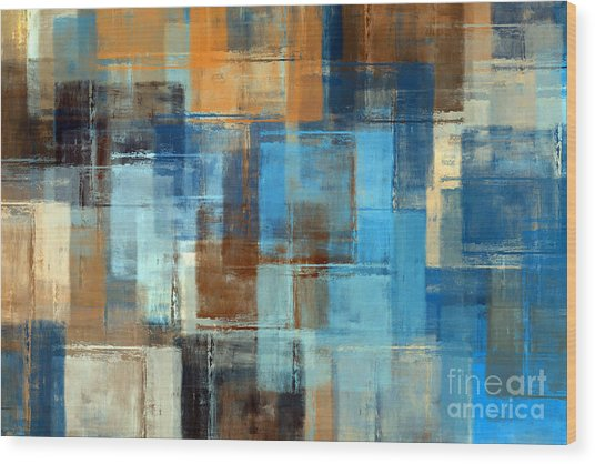 Abstract Painting. Colored Grunge Wood Print