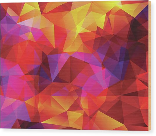Abstract  Polygonal  Background Wood Print by Carduus