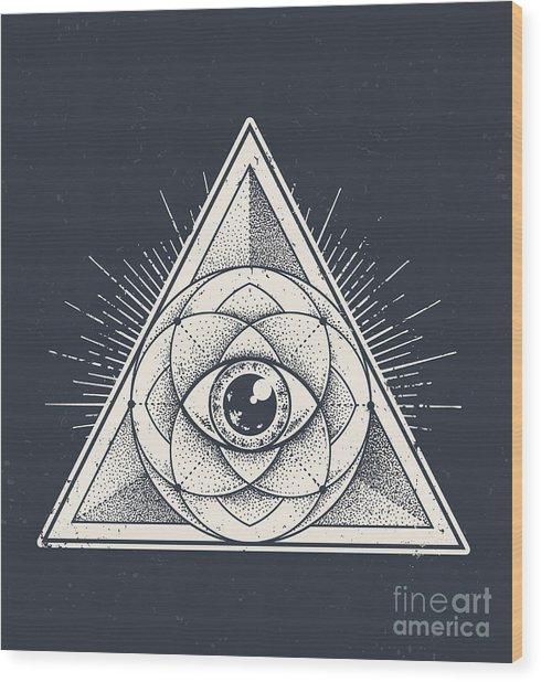 Abstract Sacred Geometry. Geometric Wood Print