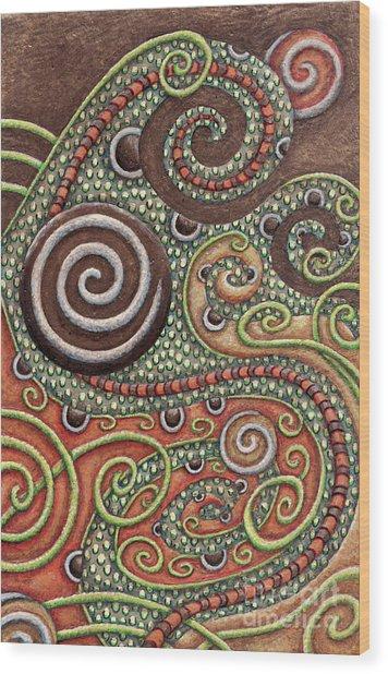 Abstract Spiral 10 Wood Print