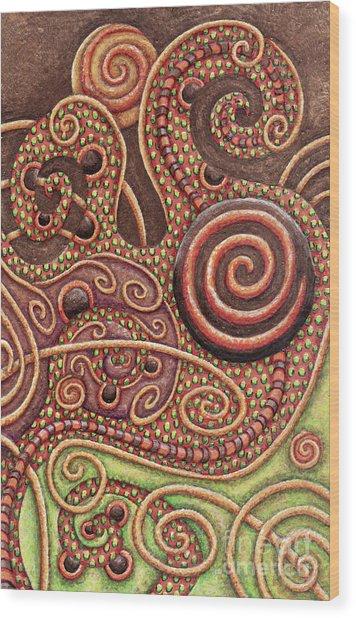 Abstract Spiral 11 Wood Print