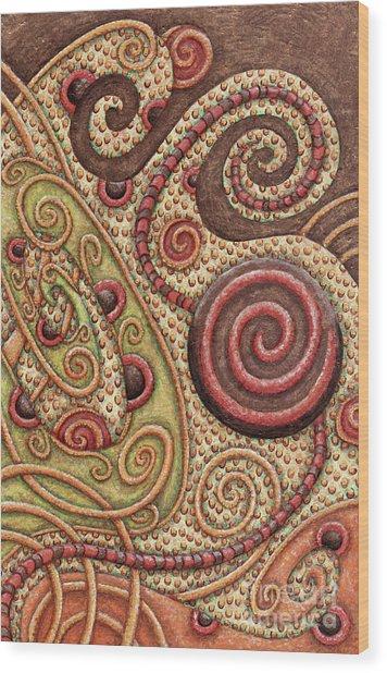 Abstract Spiral 4 Wood Print