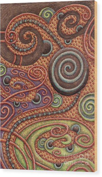 Abstract Spiral 5 Wood Print