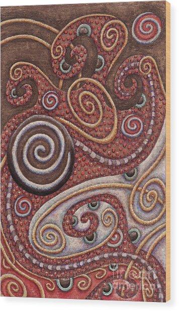 Abstract Spiral 6 Wood Print