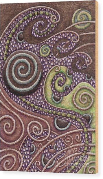 Abstract Spiral 7 Wood Print