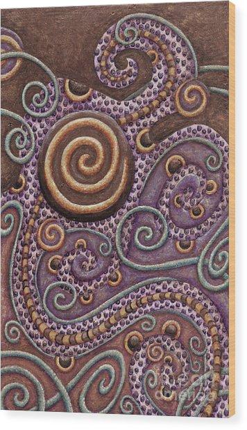 Abstract Spiral 8 Wood Print