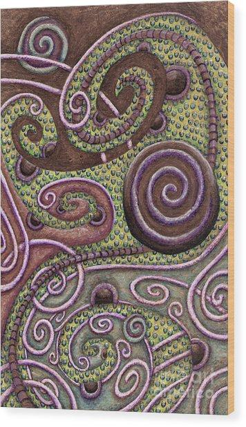 Abstract Spiral 9 Wood Print