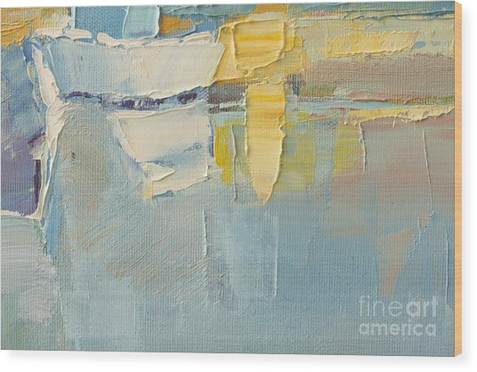Abstract Wallpaper Of Oil Painting With Wood Print