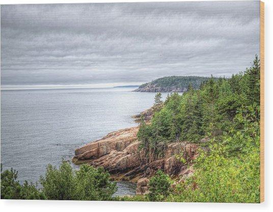 Acadia Clouds Wood Print by Zev Steinhardt