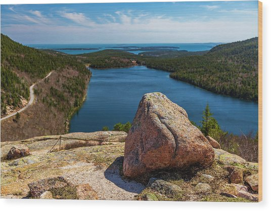 Acadia Np - Peaceful Vista Wood Print