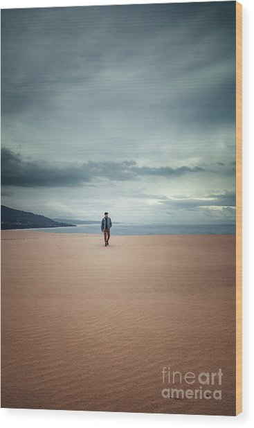 Across The Sands Of Time Wood Print