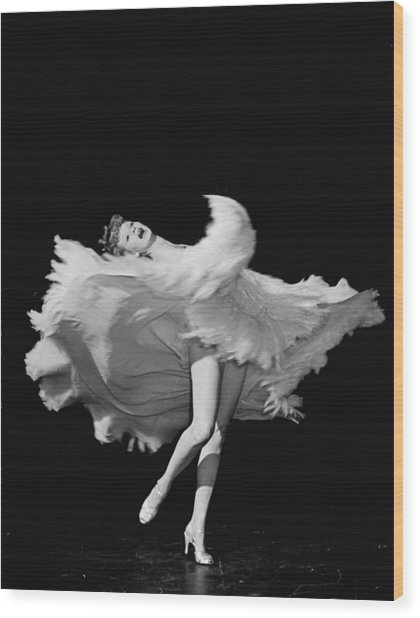 Actress Lucille Ball Dancing In Scene Wood Print by John Florea