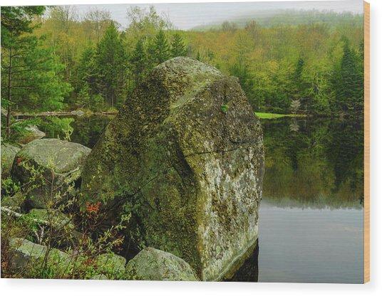 Adirondack Spring Wood Print
