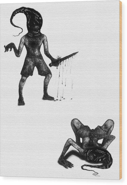 Adriano The Darkstalker - Artwork Wood Print