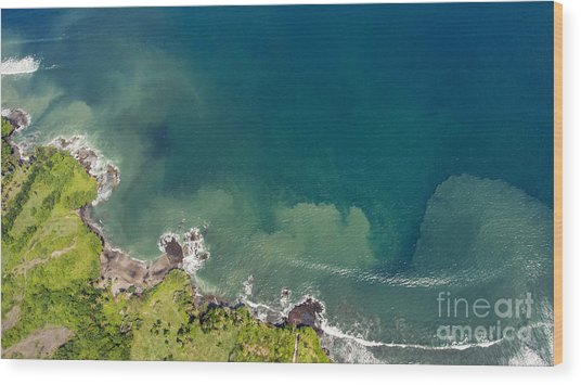 Aerial Photo From Flying Drone Of Wood Print