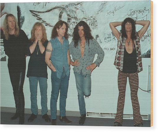 Aerosmith Backstage Portrait Wood Print