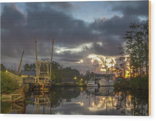 Wood Print featuring the photograph After The Storm Sunrise by Cindy Lark Hartman
