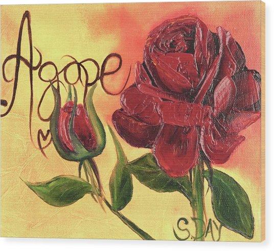 Agape Love Wood Print