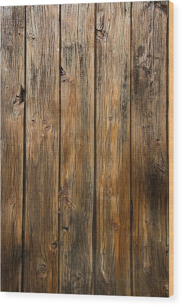 Aged Wooden Background With Vertical Wood Print