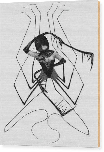 Aiko The Mistress Noir - Artwork Wood Print
